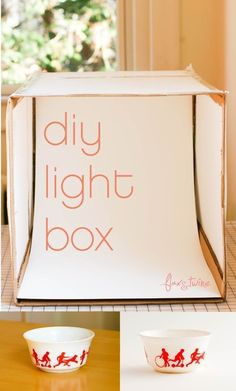 flax & twine: DIY Photo Light Box - A Finish Fifty Project - You're creative, you create new things every day, you sell them, want to show them. need better photos. So you need a Light Bo(Diy Photo Lighting) Mini Studio Photo, Photo Light Box, Diy Light Box, Easy Light, Diy Jewelry Light Box, Diy Luz, Diy Paso A Paso, Cool Pictures, Cool Photos
