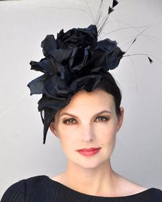 c5619107 AWARD MILLINERY DESIGN This elegant, fascinator headpiece is adorned with a  huge pure silk handmade