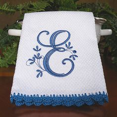 Monogrammed Dish Towel Monogrammed Kitchen Towel by ccampbell0509, $10.00