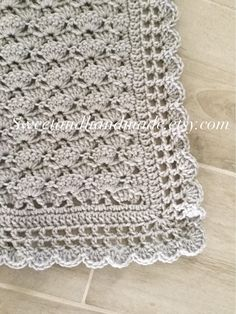 crochet baby blanket afghan blanket blanket baby shower grey gray baby blanket MADE TO ORDER Crochet Borders, Crochet Flower Patterns, Crochet Blanket Patterns, Baby Knitting Patterns, Baby Blanket Crochet, Crochet Baby, Crochet Quilt, Knit Or Crochet, No Sew Fleece Blanket