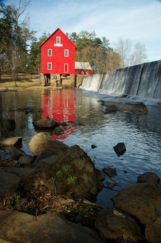 This is where we had our engagement pictures done :-) Starrs Mills, Georgia
