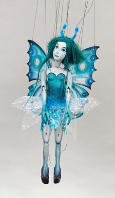 Endeavour Toys - Handmade Wooden Marionette - The Blue Butterfly Fairy, $369.00 (http://www.endeavourtoys.com/handmade-wooden-marionette-the-blue-butterfly-fairy/)