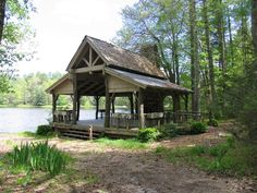 Pavilion rustic log