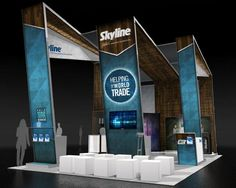 Skyline Exhibits booth at EXHIBITOR 2013