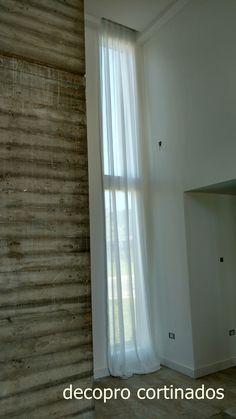 Cortinado liviano, doble altura , en gasa