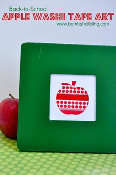 Back to School Apple Washi Tape Art