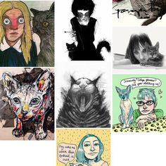 #sktchy app put this collection of cats inspired by images posted on the app #Sam #Sphynx appears many times....