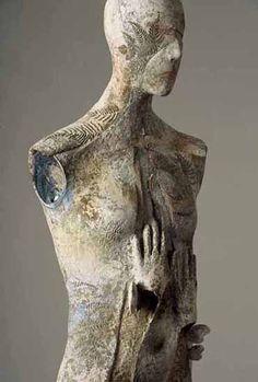 "Kath Girdler Engler - ""Woman of the Fernz II"" detail"