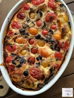 Clafoutis de tomates cerises Appetizer Recipes, Appetizers, Olives, Quiche, Casserole, Recipies, Pizza, Cooking, Breakfast