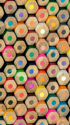 Color Spectrum - Abstract composition of colored pencils. - by Tonka Oosterink