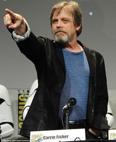 Turning to the dark side? Mark Hamill looked like he was about to send lightning shooting from his finger Without you guys we're nothing.