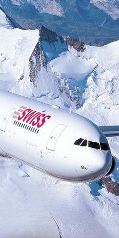 Swiss Airlines Aircraft. (Apologies NOT Concorde! However, I pinned it here because I LOVED the photograph!)