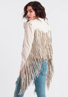 Dex Leatherette Fringe Jacket By Somedays Lovin Gypsy Style, Bohemian Style, Boho Chic, Plain White T Shirt, White Jeans, Western Chic, Bohemian Lifestyle, Fringe Jacket, Altered Couture