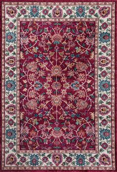 Loft Red Area Rug