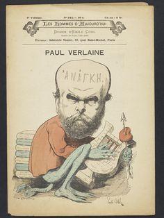 Paul Verlaine, Dessin d'Emile Cohl, Les Hommes d'Aujourd'hui.
