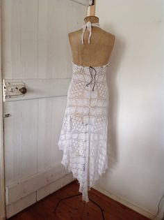 Women's Bohemian crochet Dress.Size 6 to 12. by honeysucklechild