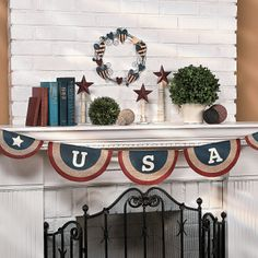 USA Pennant Banner - OrientalTrading.com  For the wedding arch?? - Military wedding