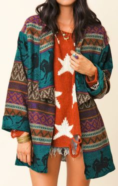 Blu Moon Navajo Wrap Jacket
