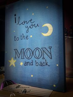 Canvas I love you to the Moon and back