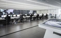 El Gran Hermano que contrla Zara..La sala de la sede central de Inditex (en Arteixo, La Coruña) donde...