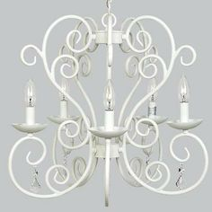 White Carriage Chandelier from StylishVintageBaby.com