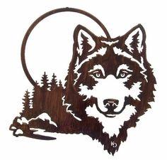 Mandala Wolf Stencil Card making Wolf Stencil Airbrush,