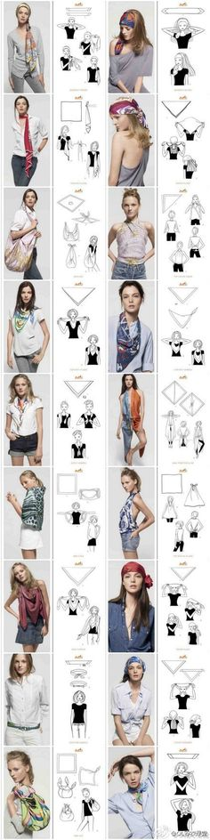 different ways to use and wear a scarf via duitang.com