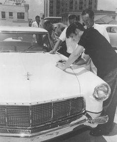 Elvis and his Continental.
