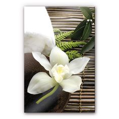 Acrylglas-Wandbild Wellness Orchidee | wall-art.de
