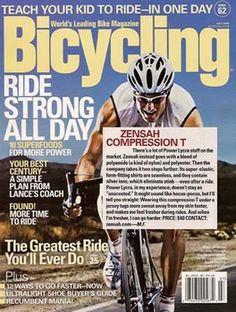 Zensah in Bicycling Magazine