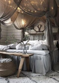 41 Glamorous Canopy Beds Ideas For Romantic Bedroom - 41 Glamorous Canopy Beds Ideas For Romantic Bedroom home decor cozy living rooms romantic Room Ideas Bedroom, Cozy Bedroom, Bedroom Designs, Master Bedroom, Bed Room, Bedroom Furniture, 1930s Bedroom, Shabby Bedroom, Bedroom Rustic