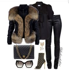 A fashion look from December 2015 featuring Whistle & Wolf blouses, Philipp Plein jackets и J Brand jeans. Browse and shop related looks. Lila Outfits, Mode Outfits, Classy Outfits, Chic Outfits, Fashion Outfits, Womens Fashion, Fashion Trends, Fall Winter Outfits, Autumn Winter Fashion