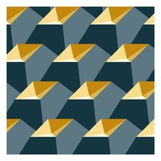 """Open Pyramids by Robin Hunnam; New Media: Vector; """"Truncated pyramids stacked in rows are constructed according to technical rules. The formality of the composition disguises the fact that the objects have no function. Rhythm Art, Diy Wall Painting, Decoration, Art Decor, Illusion Art, Art Design, Geometric Art, Op Art, Textures Patterns"""