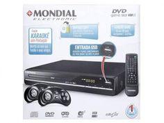 DVD Player Mondial D-07 com Karaokê Ripping - USB com as melhores condições você encontra no Magazine Duanevariedades. Confira!