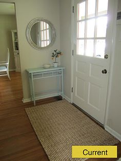 great idea for our entry way