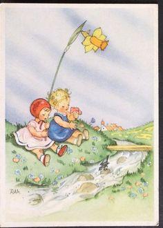 Charlotte Baron Künstler Ansichtskarte,sign.,tolles Kindermotiv in Sammeln & Seltenes, Ansichtskarten, Motive | eBay