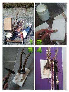 Selfmade Deer Jewelry Holder #deer #antler #jewelry #holder #jewelryholder #diy #interior #design #wall #art