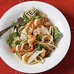 Peppery Pasta with Arugula and Shrimp Recipe | MyRecipes.com