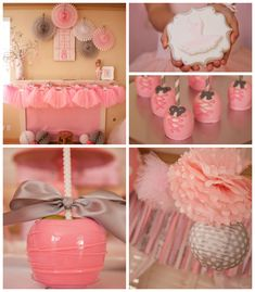 Ballerina Themed Birthday Party with Lots of Really Cute Ideas # baby shower Ballerina Birthday Parties, Ballerina Party, 1st Birthday Parties, Birthday Ideas, Ballerina Baby Showers, Fiestas Party, Childrens Party, Princess Party, Party Time