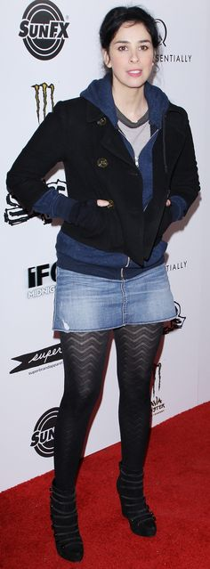 Porno sarah silverman socks upskirt