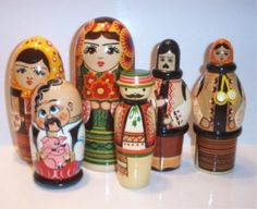 Matryoshka's,  I love them and hope one day I will get a hand painted set from one of my creative children.