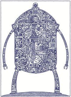 'Plan for Gigantic Robot' by Tom Gauld #Illustration