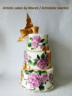 Wedding cakes by Marek - http://cakesdecor.com/cakes/301628-wedding-cakes
