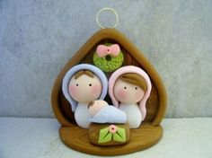 Nativity Polymer Clay Christmas Holiday by countrycupboardclay Polymer Clay Ornaments, Fimo Clay, Polymer Clay Projects, Polymer Clay Charms, Polymer Clay Art, Clay Crafts, Clay Beads, Nativity Ornaments, Nativity Crafts