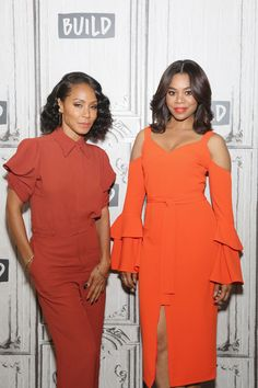 NEW YORK, NY - JULY 17:  Actresses Jada Pinkett Smith and Regina Hall visit Build to discuss the film 'Girls Trip' at Build Studio on July 17, 2017 in New York City.  (Photo by Mireya Acierto/FilmMagic) via @AOL_Lifestyle Read more: https://www.aol.com/article/entertainment/2017/07/20/girls-trip-is-not-just-for-african-american-women/23038349/?a_dgi=aolshare_pinterest#fullscreen
