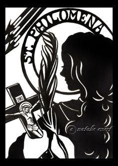 St Philomena Silhouette by ~natamon on deviantART