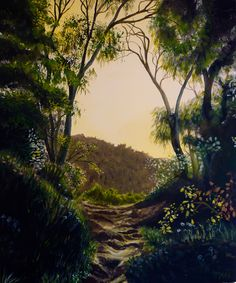"""Summer Dream"", acrylic on canvas, 51 cm x 61 cm by Cathy Yarwood- Mahy SOLD Summer Dream, Paintings, River, Celestial, Sunset, Canvas, Artwork, Outdoor, Tela"