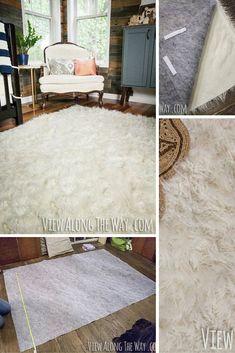 DIY Faux Fur Rug!
