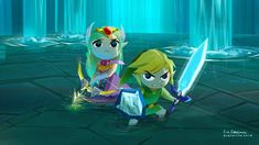 """Evelmiina - """"I finished The Wind Waker HD and because I really like the mood in final battle I wanted to try rendering it in similar way."""""""