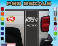 Ford F-150 arrière lit vinyle autocollant rayures camion graphiques T-157